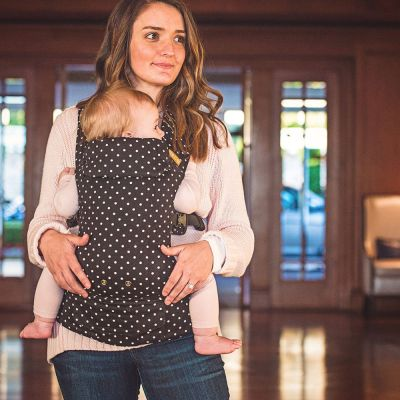 Beco Gemini Baby Carrier Iris used by mother to carry baby