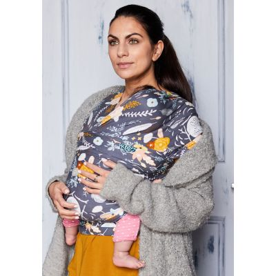 Boba Baby Wrap Limited Edition Feathers & Flowers carry sleeping baby