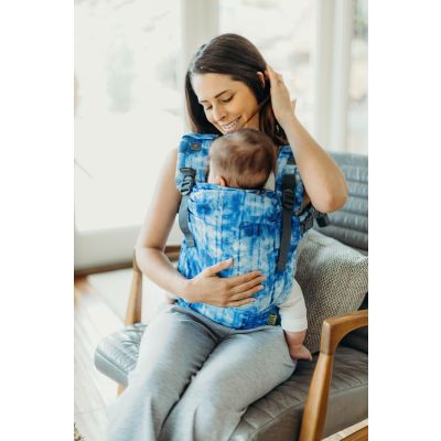 Boba X Baby & Toddler Carrier Shibori mother seated with baby in carrier