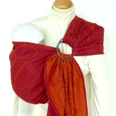 DidySling Ellipses Red Woven Wrap Conversion Ring Sling