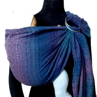 DidySling Prima Sole Occidente Woven Wrap Conversion Ring Sling on mannequin