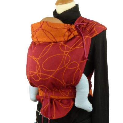 Didymos DidyTai Mei Tai Wrap conversion Baby Carrier Ellipses Red on mannequin front view