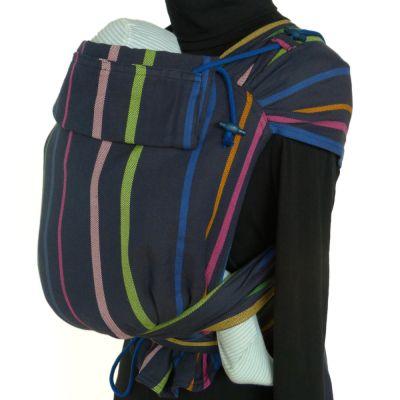Didymos DidyTai Wrap Conversion Mei Tai Baby Carrier Lisa on mannequin side view