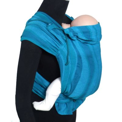 Didymos DidyTai Mei Tai Baby Carrier Waves Acqua on mannequin side view
