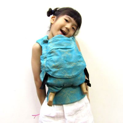 Emeibaby Wrap Conversion Doll Carrier Baali Turquoise