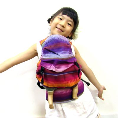 Emeibaby Wrap Conversion Doll Carrier Chi Chi Red