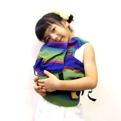 Emeibaby Wrap Conversion Doll Carrier Green Lila