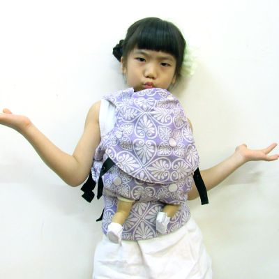 Emeibaby Wrap Conversion Doll Carrier Siri Lilac girl carry doll