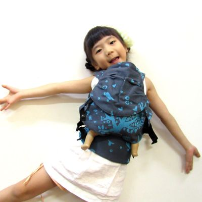 Emeibaby Wrap Conversion Doll Carrier Treemei Turquoise Girl with doll
