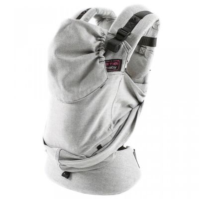 Emei Baby Hybrid Soft Structure Organic Wrap Conversion Toddler Plus Carrier Full Grey