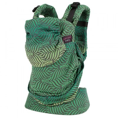 Emei Baby Hybrid Soft Structure Organic Wrap Conversion Toddler Plus Carrier Full Leaves Rainbow Light