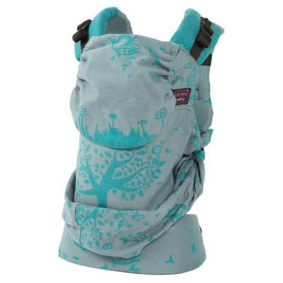 Emei Baby Hybrid Soft Structure Organic Wrap Conversion Toddler Plus Carrier Full Panda