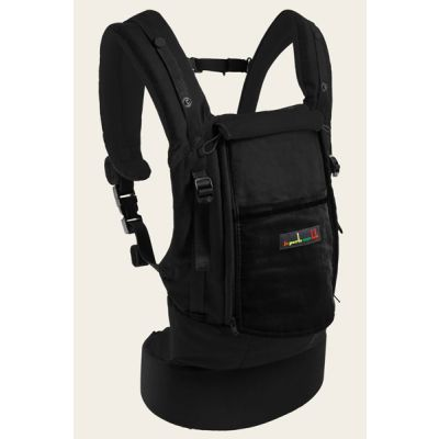 Love Radius PhysioCarrier Cotton All Black with window flap down