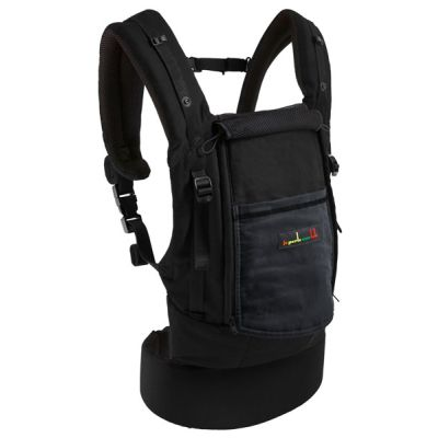 Love Radius PhysioCarrier Black Charcoal Grey with flap down