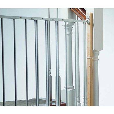 Kidco K100 Gate Installation Kit used with a stairway banister