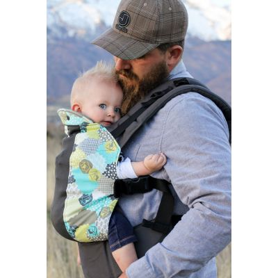 Kinderpack Carrier Morning Dew with Koolnit front carry baby