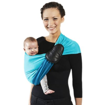 Love Radius Reversible Ring Sling Pigeon Blue/Turquoise mother and baby