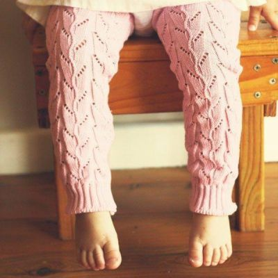 Huggalugs Cable Knit Lupine Arm & Leg Warmers worn by girl