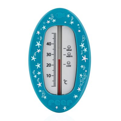 Reer Bath Thermometer Oval Blue Front View
