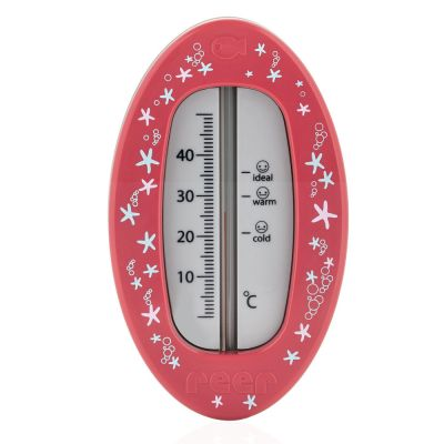 Reer Bath Thermometer Oval Berry Red Front View
