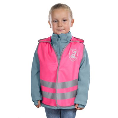 Reer MyBuddyGuard night safety vest Pink (53022) on girl front view