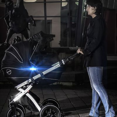 Reer LightReflex Reflective Stickers (53108) improves visibility of your stroller at night
