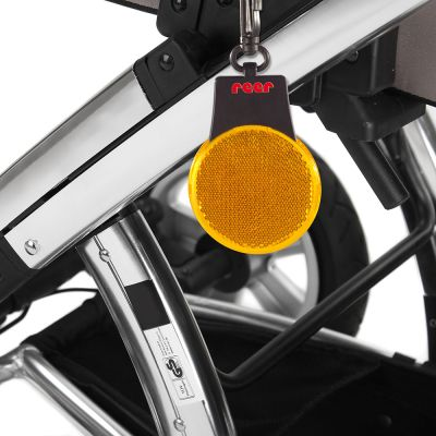 Reer SeeMe LED Security light (53125) hangs easily on your stroller to improve visibility of your stroller at night