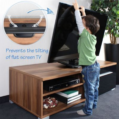 Reer Anti Tip TV Mount (73010) prevents the tilting of flat screen tv by small children