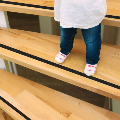 Reer Self Adhesive Anti Slip Strips 5m (80135) helps to prevent slipping accidents at stairs