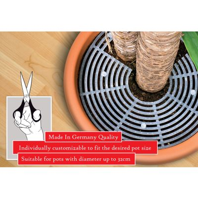 Reer Plant Guard 32cm (8303.3) reduces the risk of children pickingup small objects from indoor plant pots