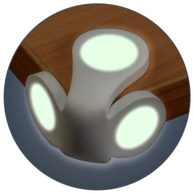 Reer Corner Protectors, Illuminating (8398B) glows in the dark to help prevent accidents knocking into corners at night