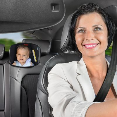 Reer 86031 BabyView Car Safety Mirror install in car