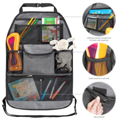 Reer TravelKid Tidy Car Seat Organizer with many compartments