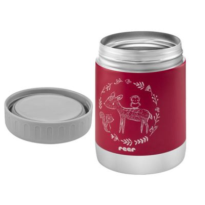 Reer ColourDesign Stainless Steel Thermal Food Container 350ml Berry Red