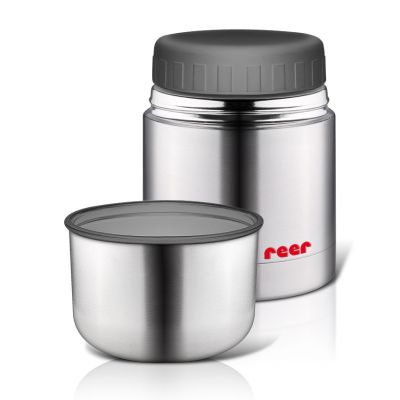 Reer Stainless Steel Thermal Vacuum Food Container with Cup 350ml (90430)