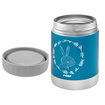 Reer ColourDesign Stainless Steel Thermal Food Container 350ml Petrol Blue