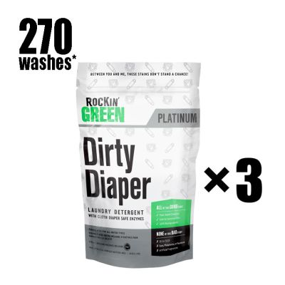 Rockin Green 3 x Dirty Diaper Ultimate Package