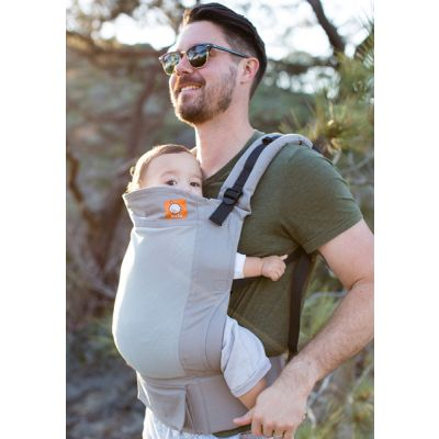 Tula Coast Overcast Carrier used by father with baby