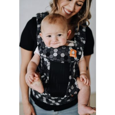 Baby in a Tula Explore Coast Buzz Baby Carrier front facing