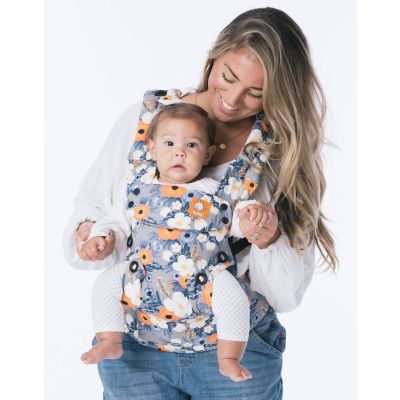 Tula Explore Baby Carrier French Marigold used to forward face front carry a baby