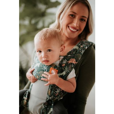 Toddler in a Tula Explore Coast Land before Tula Baby Carrier front facing