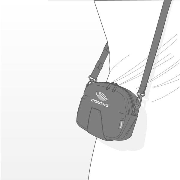 Manduca Carrier Belt Pouch use as a regular sling pouch
