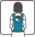 Manduca Baby Carrier can be used for backpack carry position
