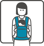 Manduca Baby Carrier can be used for front hugging position