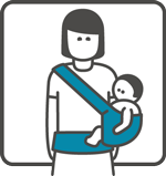 Manduca Baby Carrier can be used for Hip carry position