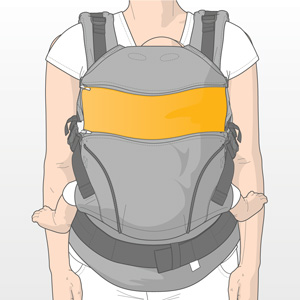 Usage step 3: Enjoy the new look of your manduca carrier